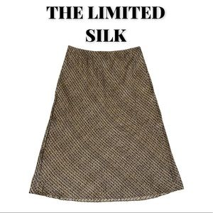 NWOT The Limited Silk Midi Skirt, Size Small
